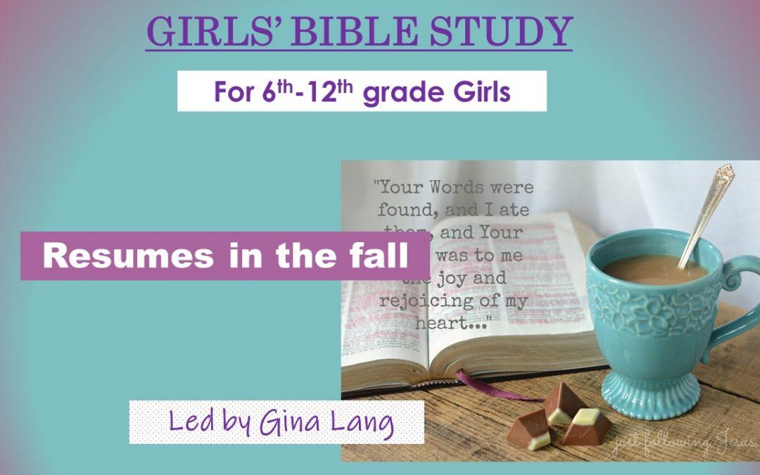 Girl's Bible Study