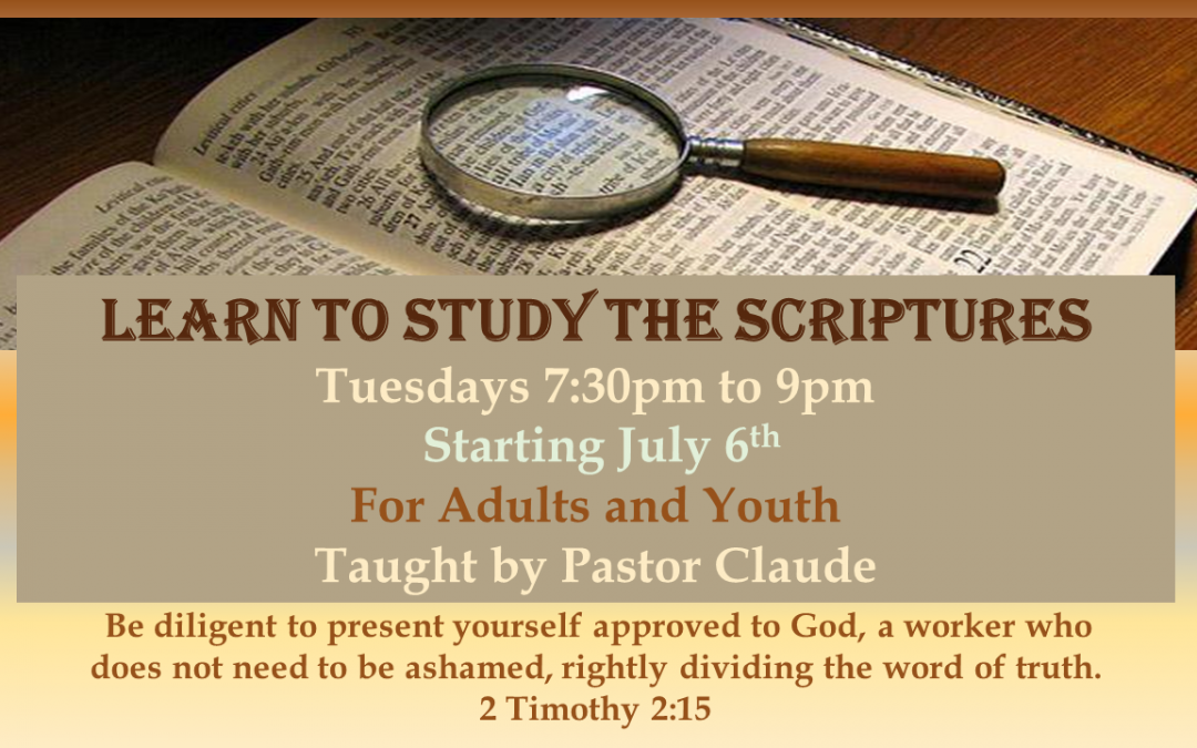 Learn to Study the Scriptures